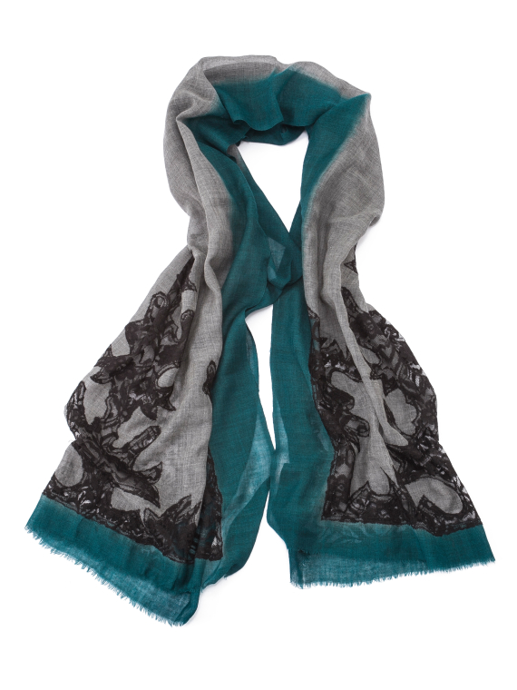 Green Lace Scarf